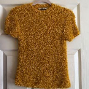 Zara knit yellow size medium sweater.